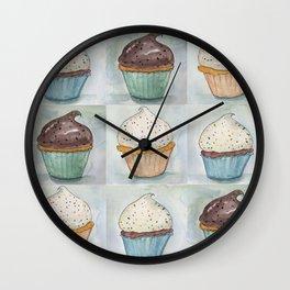 Vanilla and Chocolate Cupcakes Wall Clock