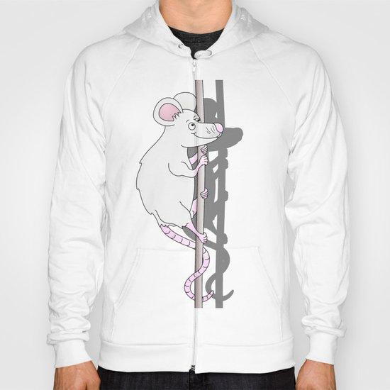 Cute Grey Cartoon Mouse Hoody