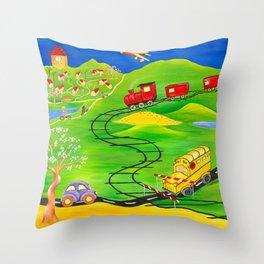 A Little Boy's Dream Throw Pillow