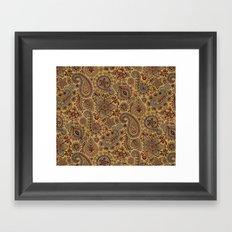Cosmic Paisley Henna Framed Art Print