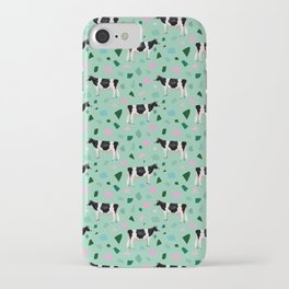 Terrazzo Holsteins // Mint iPhone Case