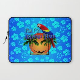 Island Time And Parrot Laptop Sleeve