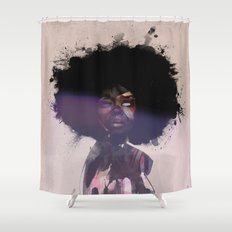 Afro Funk Shower Curtain