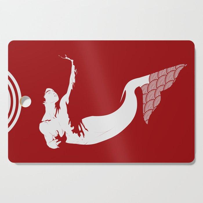 Merman - Red & White - Mermay 2019 Cutting Board