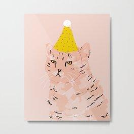 Party Cat Metal Print