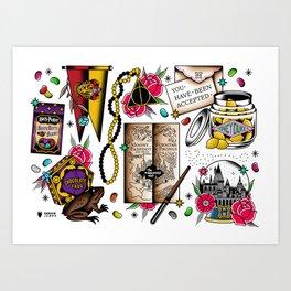 Magic flash set Art Print