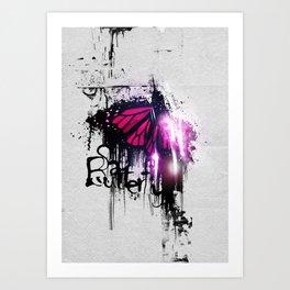 Sad Butterfly Art Print