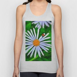 Blue daisy and a ladybird Unisex Tank Top