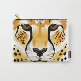 cheetah head close-up illustration Carry-All Pouch