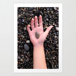 HAND ROCK Art Print