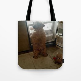 Squeaky, I found our snacks! Tote Bag