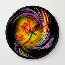 Flowermagic - Rose Wall Clock