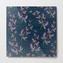 Weathered Flowers and Berries Metal Print