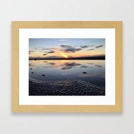 Beach Time Sunset Framed Art Print