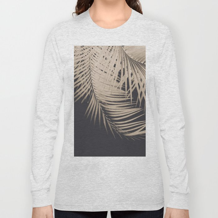 Palm Leaves Sepia Vibes #1 #tropical #decor #art #society6 Long Sleeve T-shirt