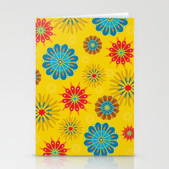 Psycho Flower Gold Stationery Cards