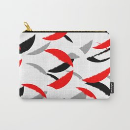 black white red grey abstract minimal pattern Carry-All Pouch