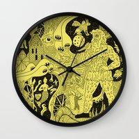 wizard Wall Clocks featuring Wizard Dreams by Josh Ln