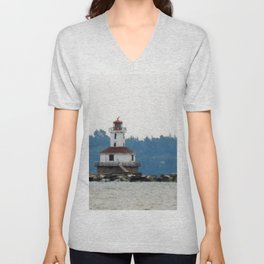 Indian Head Lighthouse from across the Bay Unisex V-Neck