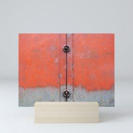 Red over Grey Mini Art Print