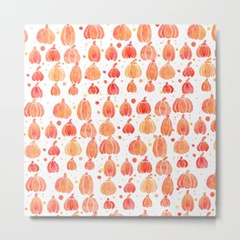 Festive Fall Pumpkins Metal Print