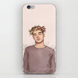 Flower crown Liam iPhone Skin