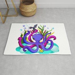 Octopus illustration Rug