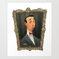 pee wee Art Prints featuring Pee Wee Herman by Audrey Benjaminsen