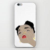 fka twigs iPhone & iPod Skins featuring FKA Twigs by n u m b