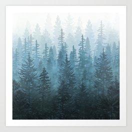 My Misty Secret Forest Art Print