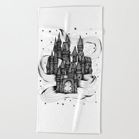Super Magic Dream Castle Beach Towel