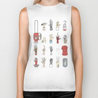 lotr Biker Tanks featuring Give Me A Hand by Derek Eads