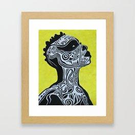 Tribal Body - Acrylics Painting Framed Art Print