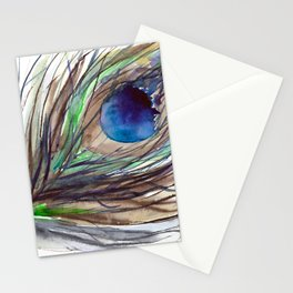 Peacock piece    watercolor Stationery Cards