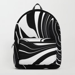 Modern Black and White Abstraction Backpack