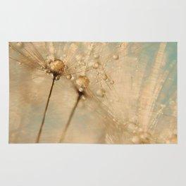 dandelion gold and mint Rug
