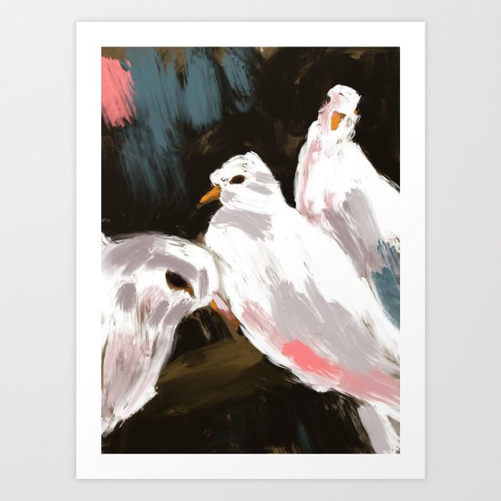 Minnesota State Fair 2011 - Doves Art Print