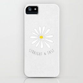 Straight & Fast (White Paper Texture) iPhone Case