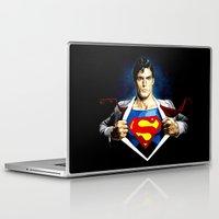 superman Laptop & iPad Skins featuring Superman by DavinciArt
