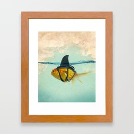 Brilliant DISGUISE - Goldfish with a Shark Fin Framed Art Print