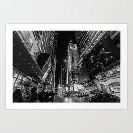 Night at Times Square Art Print