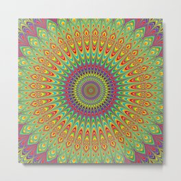 Happy Hippie Mandala Metal Print