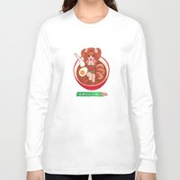 ramen Long Sleeve T-shirts featuring Ramen by EMIRI