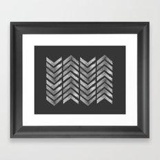 STAMPS SERIES N3 HERRINGBONE BLACK Framed Art Print
