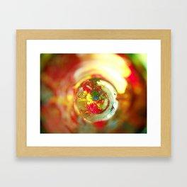 Rainbow Bottle Framed Art Print