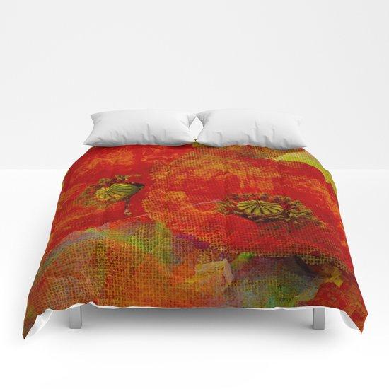 Poppies(red&orange). Comforters