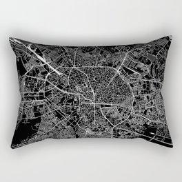 Bucharest Black Map Rectangular Pillow