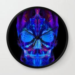 Neon Skull Wall Clock