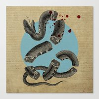 snake Canvas Prints featuring Snake by DIVIDUS DESIGN STUDIO