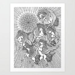 Pegasi, the Sun Dancers by Kent Chua Art Print